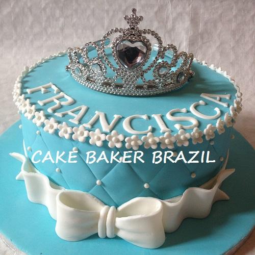 Bolo Princesa- Azul